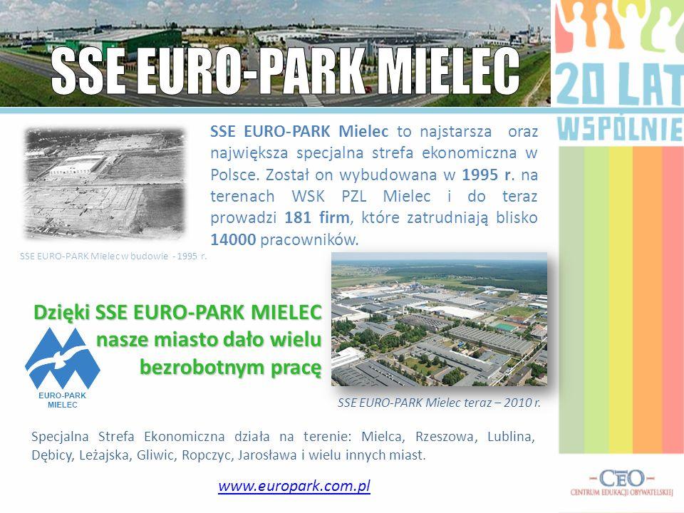 www.europark.com.pl SSE EURO-PARK Mielec to najstarsza oraz największa specjalna strefa ekonomiczna w Polsce. Został on wybudowana w 1995 r. na terena