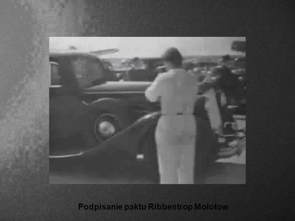 Podpisanie paktu Ribbentrop Mołotow