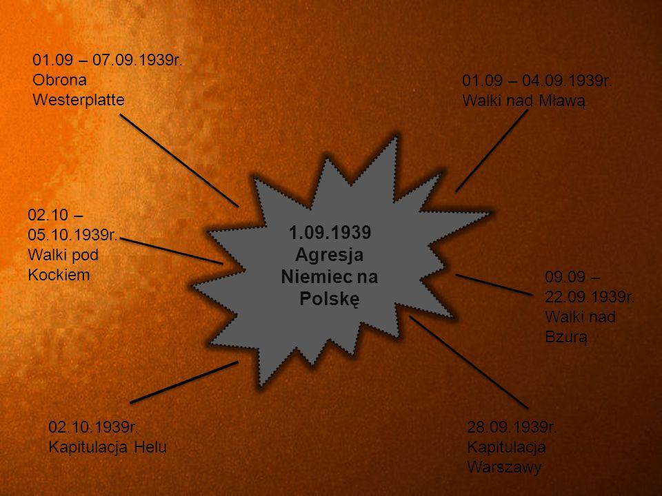 1.09.1939 Agresja Niemiec na Polskę 01.09 – 07.09.1939r.