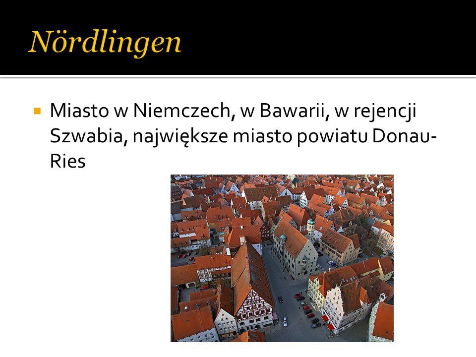 Miasto w Niemczech, w Bawarii, w rejencji Szwabia, największe miasto powiatu Donau- Ries