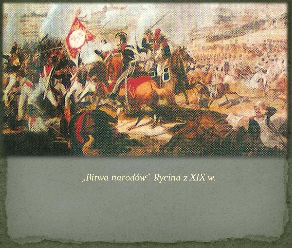 Bitwa narodów. Rycina z XIX w.
