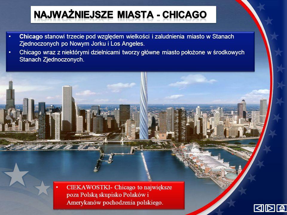 Chicago stanowi trzecie pod względem wielkości i zaludnienia miasto w Stanach Zjednoczonych po Nowym Jorku i Los Angeles. Chicago wraz z niektórymi dz