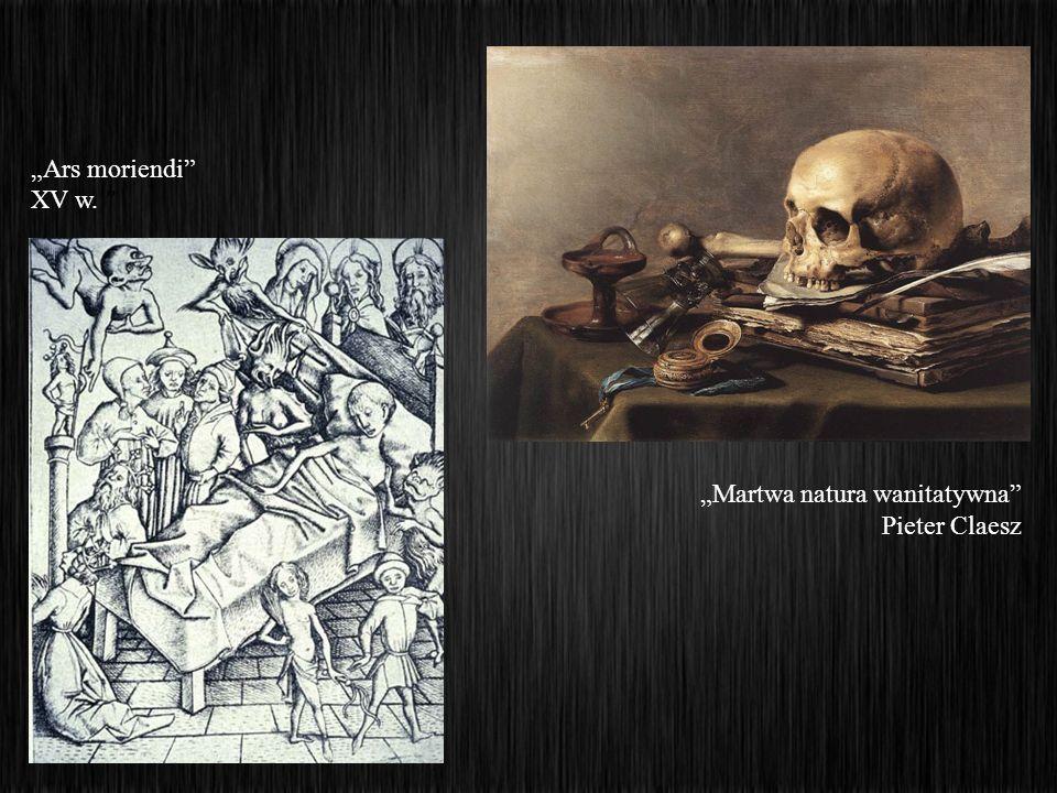 Ars moriendi XV w. Martwa natura wanitatywna Pieter Claesz