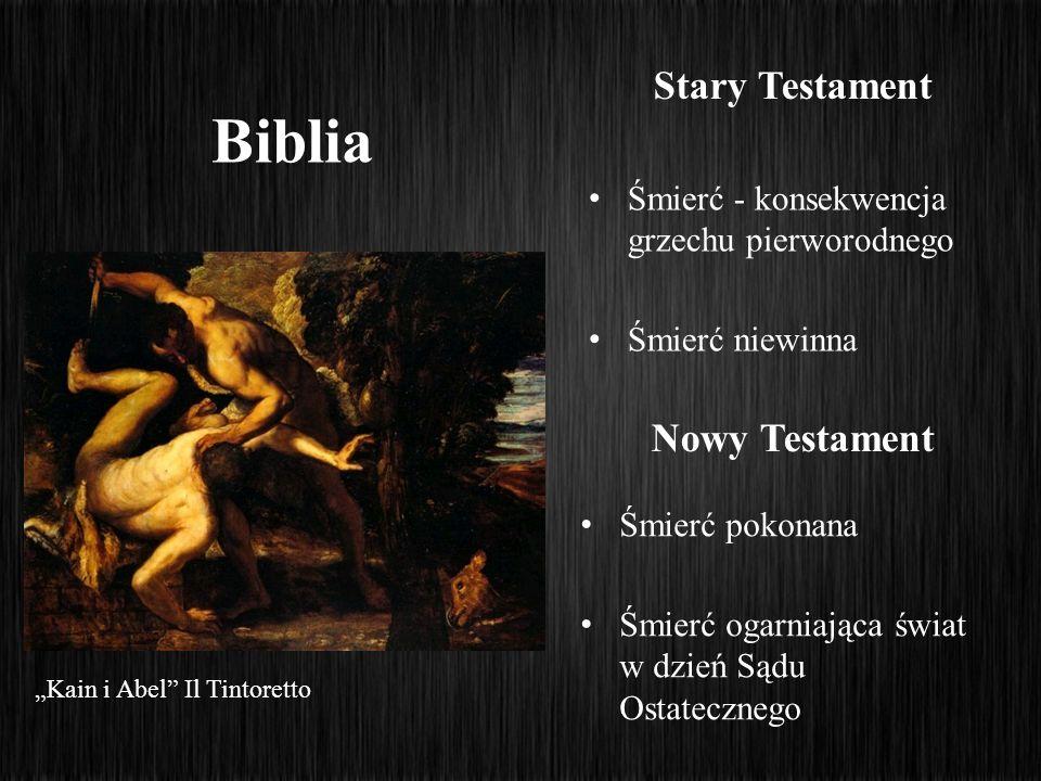Biblia Śmierć - konsekwencja grzechu pierworodnego Śmierć niewinna Stary Testament Nowy Testament Śmierć pokonana Śmierć ogarniająca świat w dzień Sąd