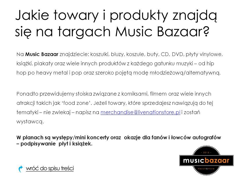 Jakie towary i produkty znajdą się na targach Music Bazaar.