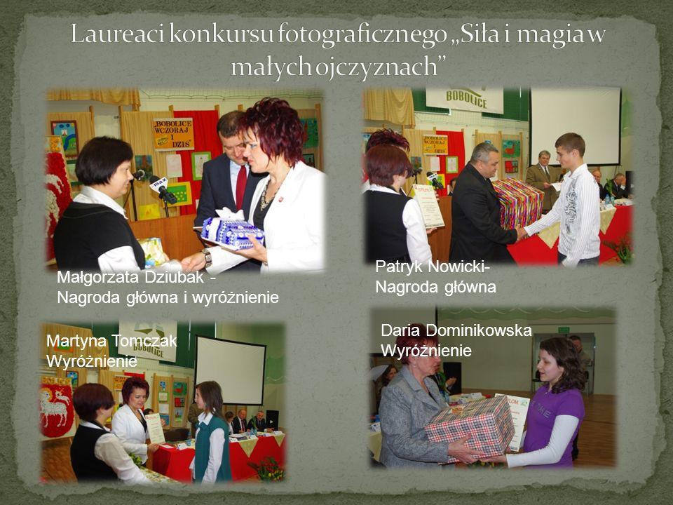 Małgorzata Dziubak - Nagroda główna i wyróżnienie Patryk Nowicki- Nagroda główna Martyna Tomczak Wyróżnienie Daria Dominikowska Wyróżnienie