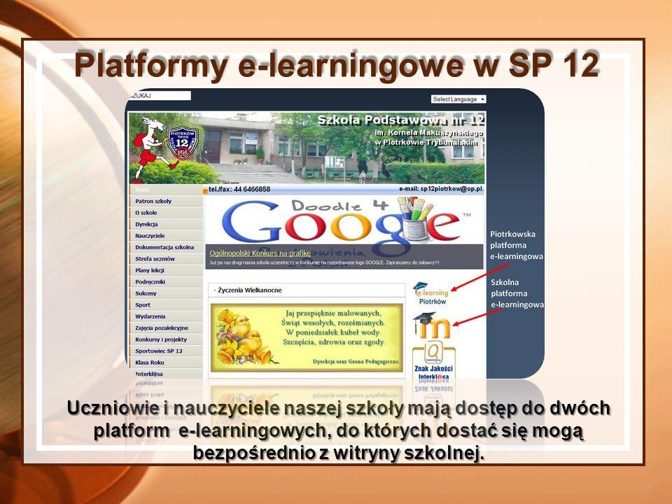 Uczniowie i nauczyciele naszej szkoły mają dostęp do dwóch platform e-learningowych, do których dostać się mogą bezpośrednio z witryny szkolnej. Platf