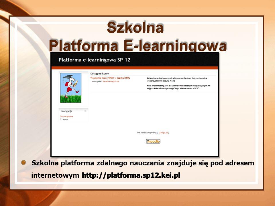 Szkolna Platforma E-learningowa