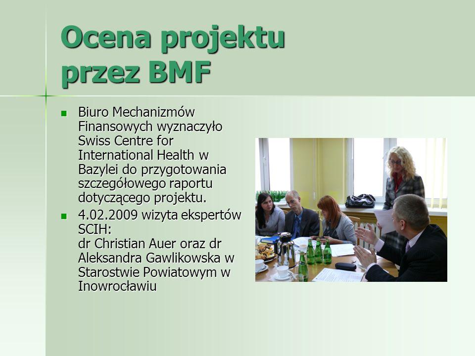 Ocena projektu przez BMF Biuro Mechanizmów Finansowych wyznaczyło Swiss Centre for International Health w Bazylei do przygotowania szczegółowego rapor