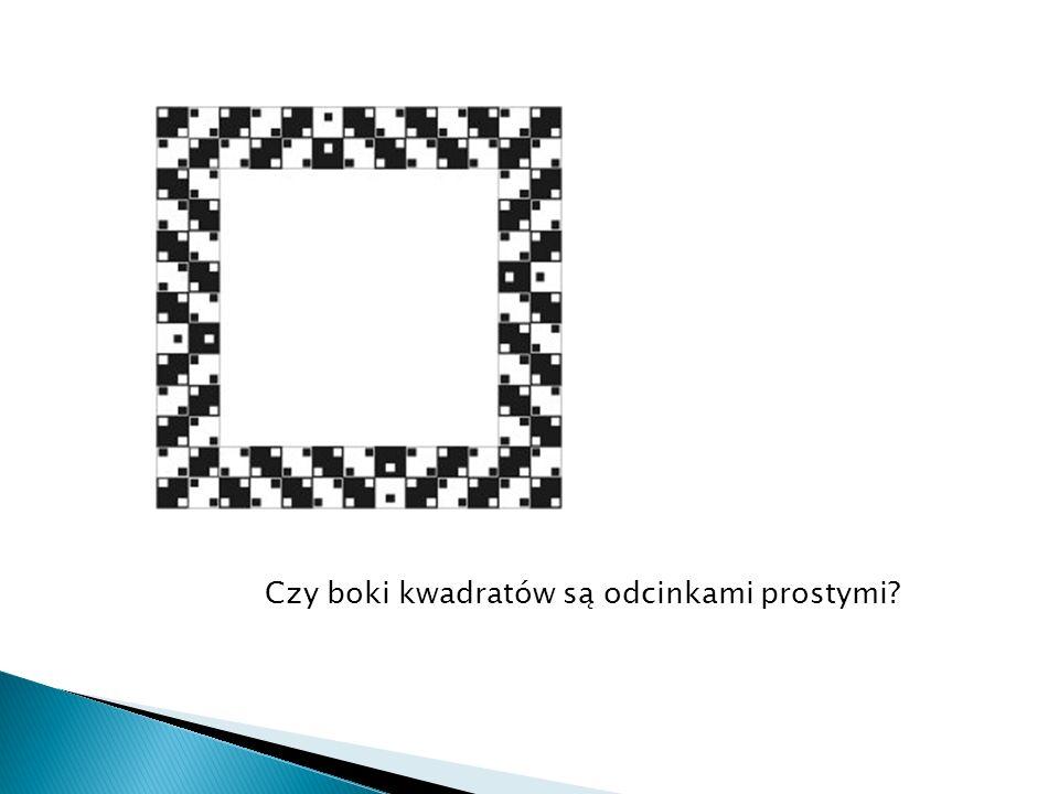 Czy boki kwadratów są odcinkami prostymi?