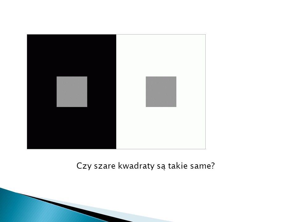 Czy szare kwadraty są takie same?