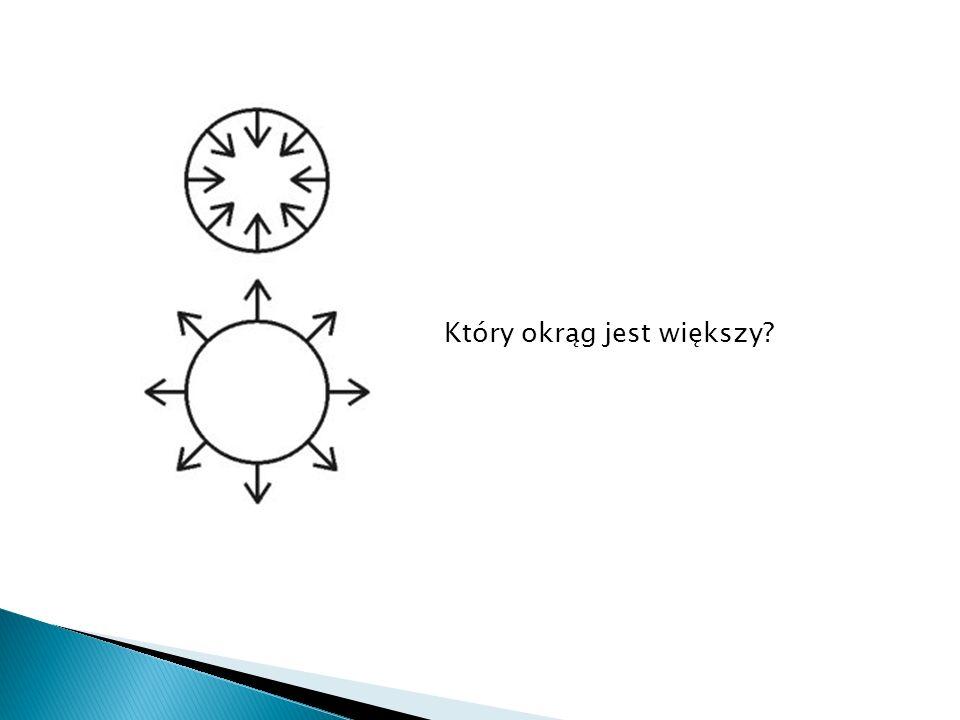 Czy środkowe kółka różnią się wielkością?