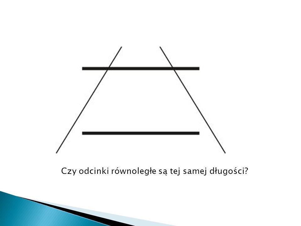 Czy odcinki równoległe są tej samej długości?