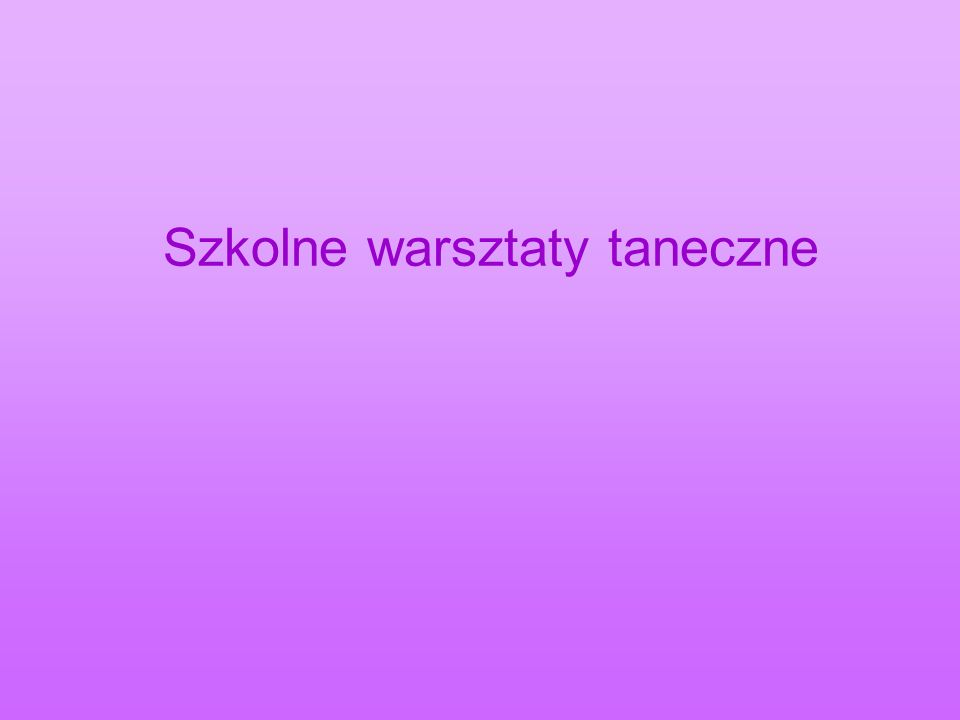 Taniec Nowoczesny Modern Dance - taniec, który powstał z dwóch tendencji: jazzu i klasyki.