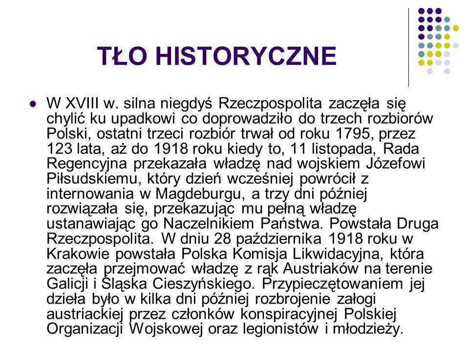 TŁO HISTORYCZNE W XVIII w.