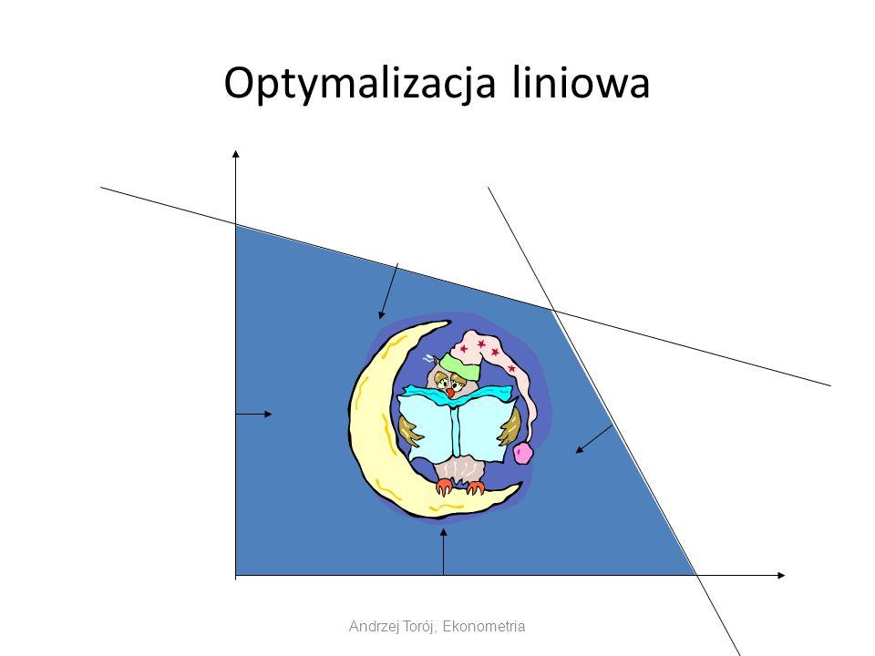 Optymalizacja liniowa Andrzej Torój, Ekonometria