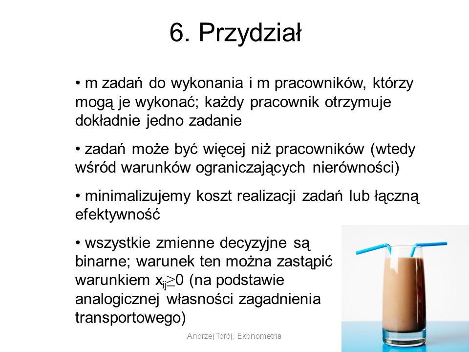 Andrzej Torój, Ekonometria 6.