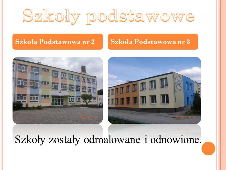 Szkoła Podstawowa nr 2Szkoła Podstawowa nr 3 Szkoły zostały odmalowane i odnowione.