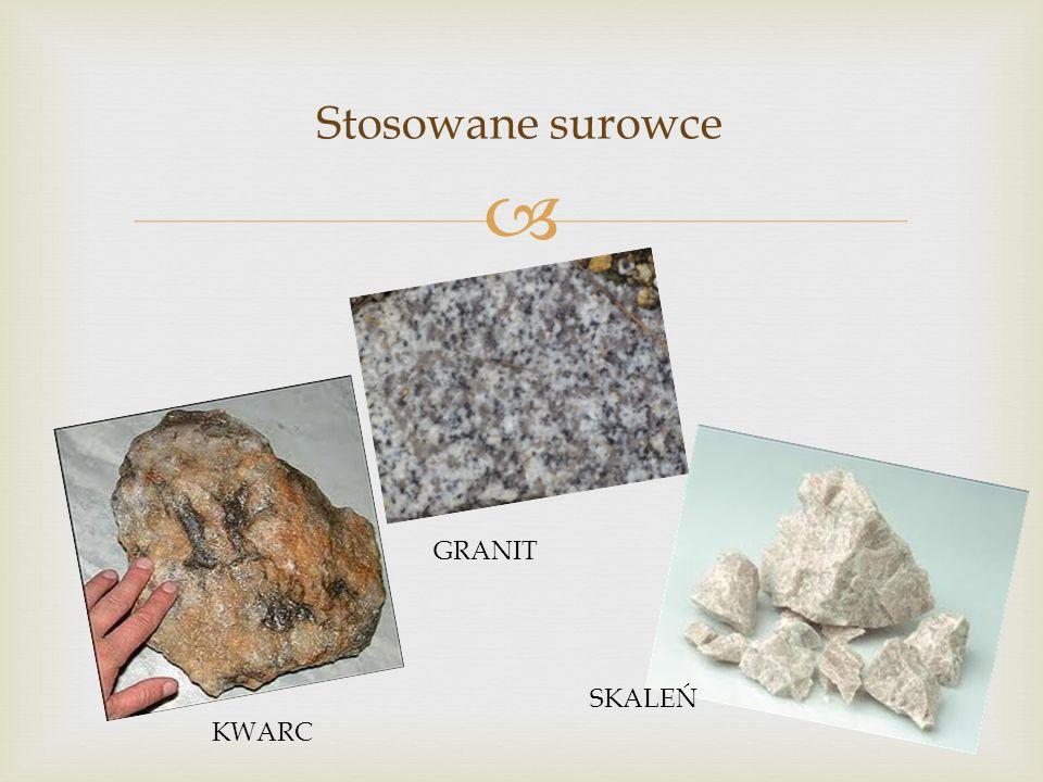 Stosowane surowce GRANIT SKALEŃ KWARC