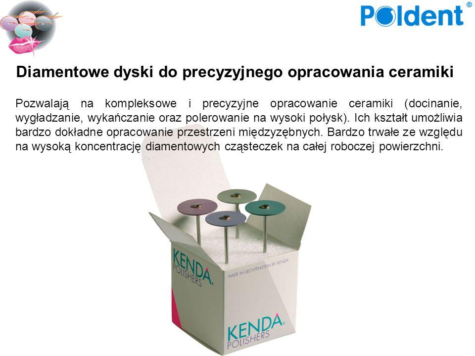 Pozwalają na kompleksowe i precyzyjne opracowanie ceramiki (docinanie, wygładzanie, wykańczanie oraz polerowanie na wysoki połysk). Ich kształt umożli