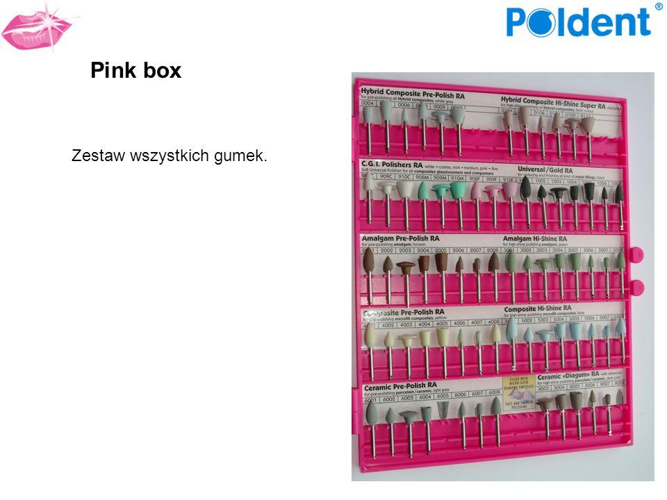 Pink box Zestaw wszystkich gumek.