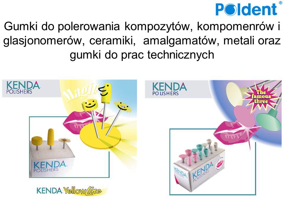 Gumki do kompozytów, komponerów i glasjonomerów Gumki do polerowania kompozytów z mikrowypełniaczami Gumki do kompozytów hybrydowych Gumki NOBILIS do kompozytów i ceramiki Gumki UNICUS do kompozytów i ceramiki Gumki do ceramiki i porcelany Gumki do amalgamatów Gumki do metali szlachetnych i tytanu Gumki techniczne akrylu i gumki techniczne do metali Gumki techniczne do zębów akrylowych Yellow Line Pasta do polerowania Pink BOX – zestaw wszystkich gumek Diamentowe dyski do precyzyjnego opracowania ceramiki