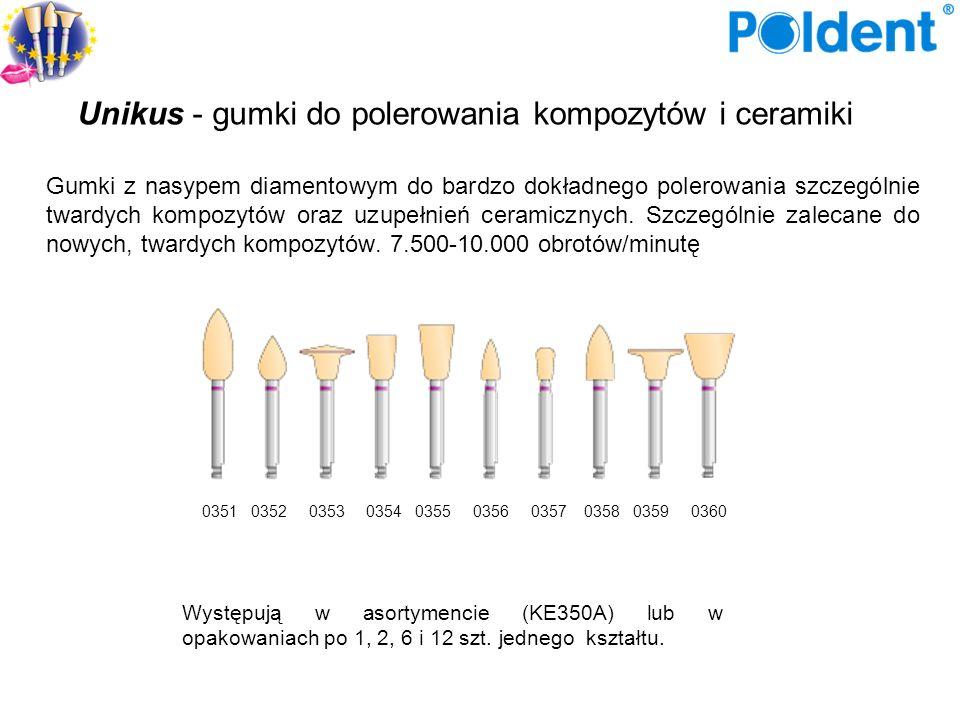 Gumki do ceramiki i porcelany Szare gumki służą do wstępnego, zgrubnego polerowania ceramiki i porcelany.
