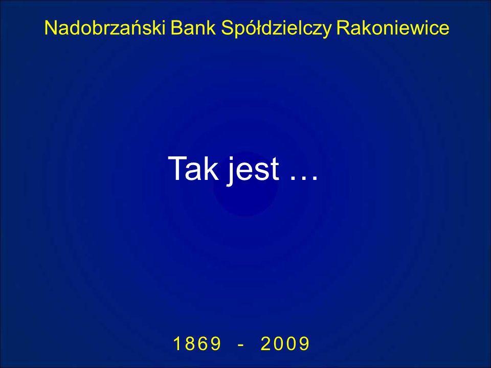 Nadobrzański Bank Spółdzielczy Rakoniewice 1869 - 2009 Tak jest …