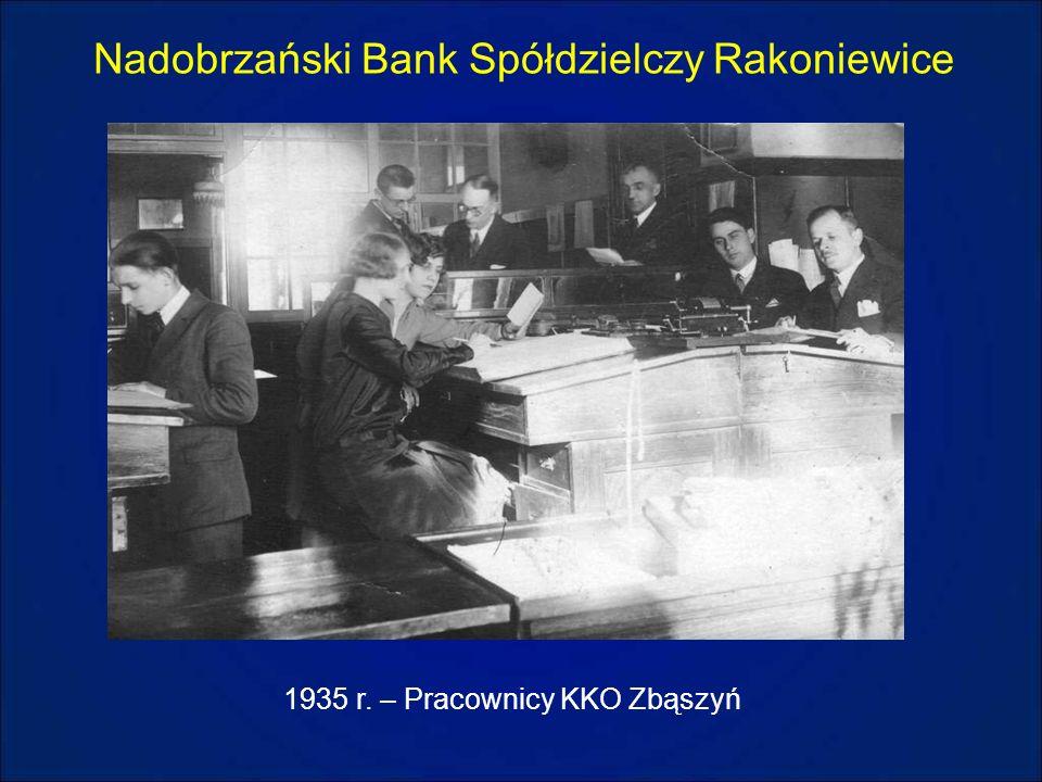Nadobrzański Bank Spółdzielczy Rakoniewice 1935 r. – Pracownicy KKO Zbąszyń