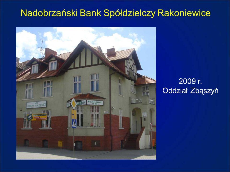 Nadobrzański Bank Spółdzielczy Rakoniewice 2009 r. Oddział Zbąszyń