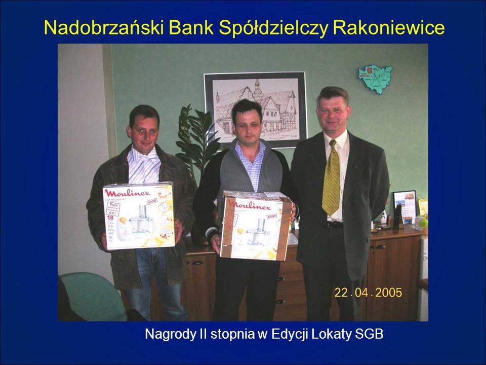 Nadobrzański Bank Spółdzielczy Rakoniewice Nagrody II stopnia w Edycji Lokaty SGB