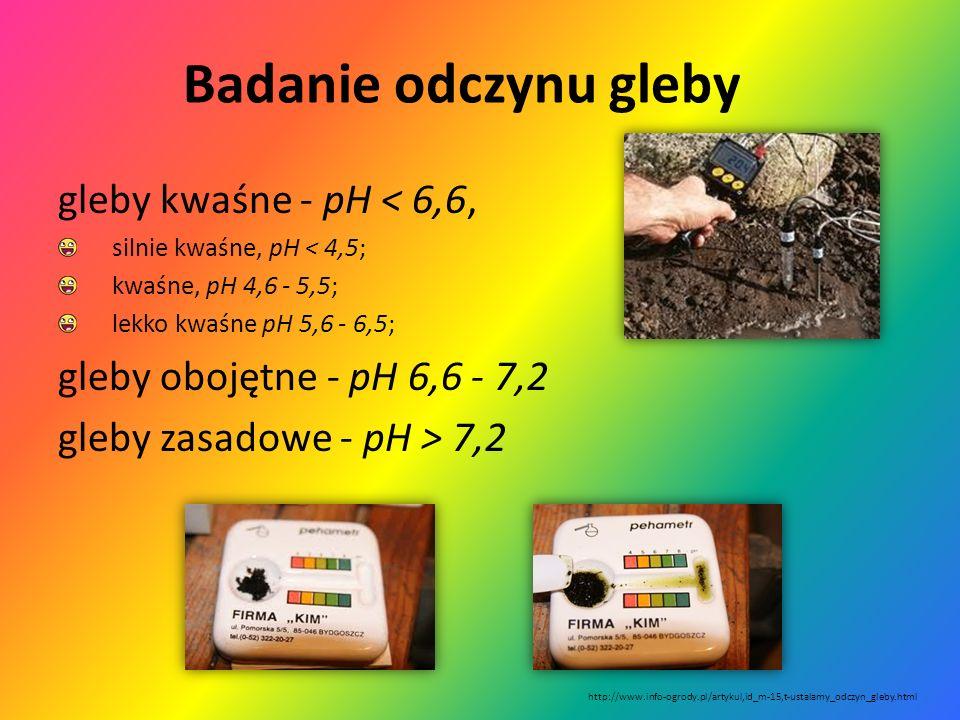 Odczyn gleby To właściwość gleby wyrażona przez stosunek stężenia jonów wodorowych H + do jonów wodorotlenowych OH -, w fazie stałej gleby i w jej roz