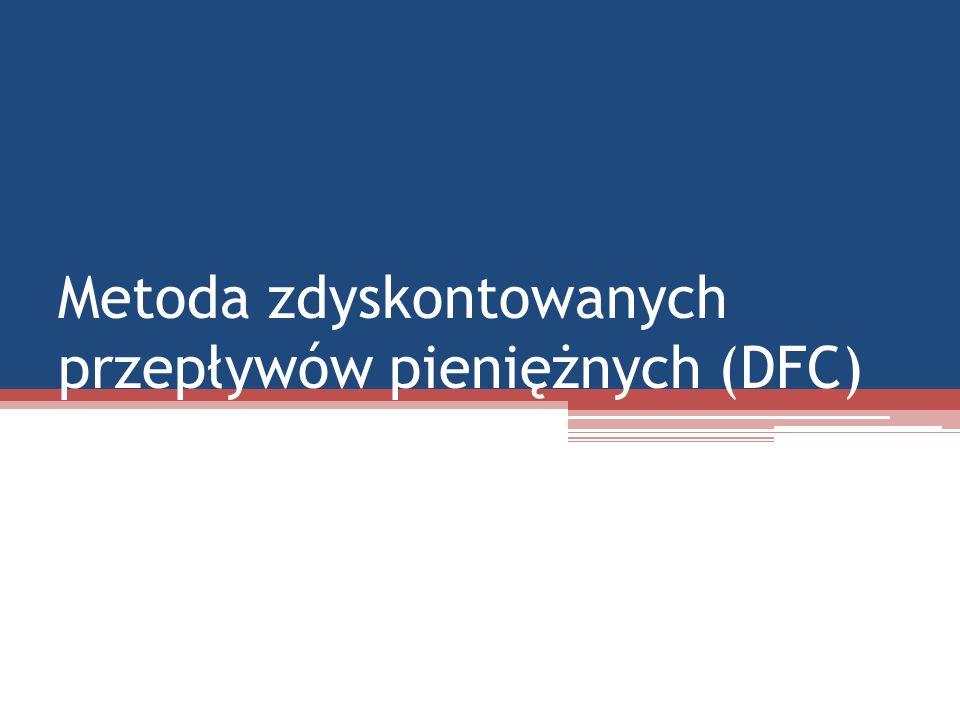 Metoda zdyskontowanych przepływów pieniężnych (DFC)