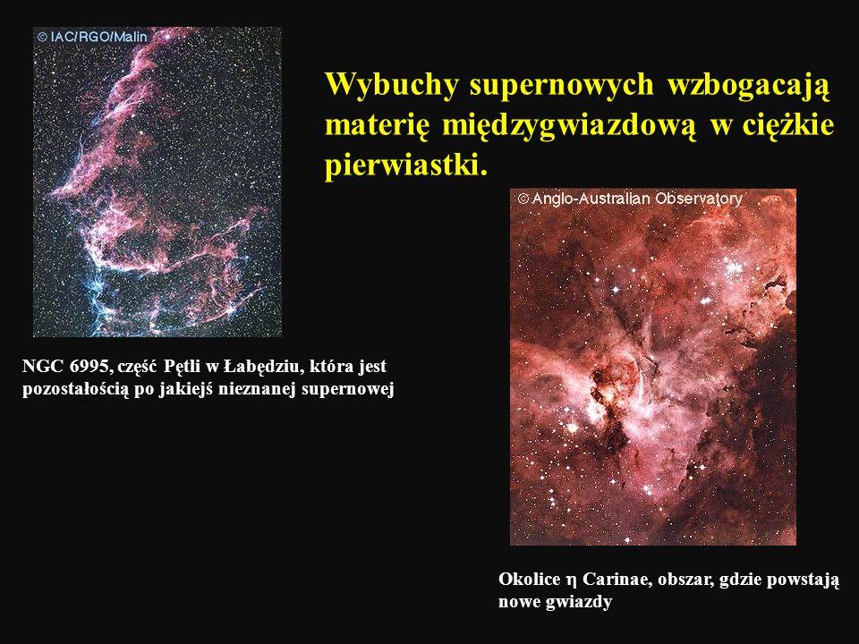NGC 6995, część Pętli w Łabędziu, która jest pozostałością po jakiejś nieznanej supernowej Wybuchy supernowych wzbogacają materię międzygwiazdową w ci