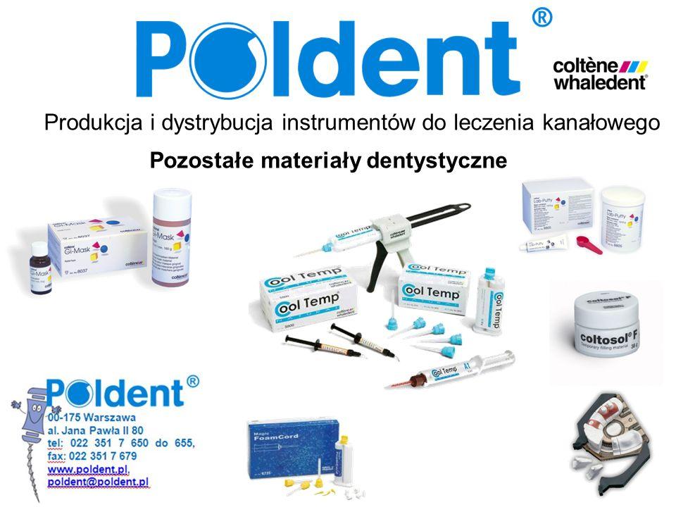 Produkcja i dystrybucja instrumentów do leczenia kanałowego Pozostałe materiały dentystyczne