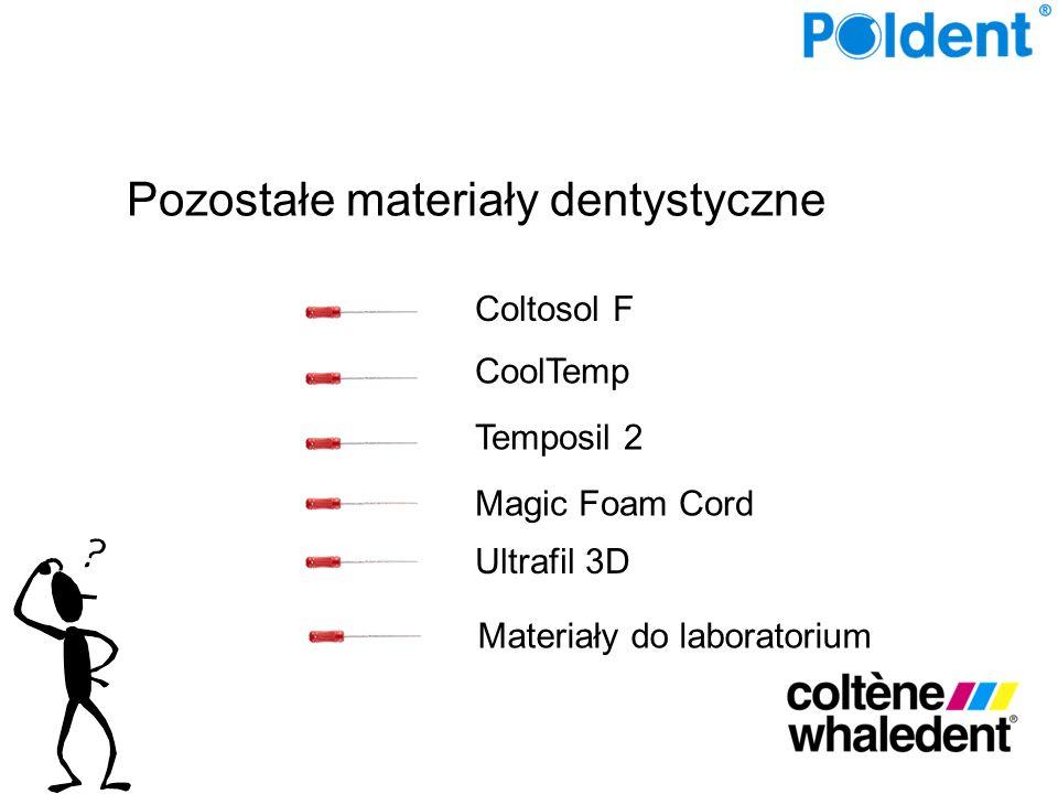 Coltosol F CoolTemp Temposil 2 Magic Foam Cord Ultrafil 3D Materiały do laboratorium