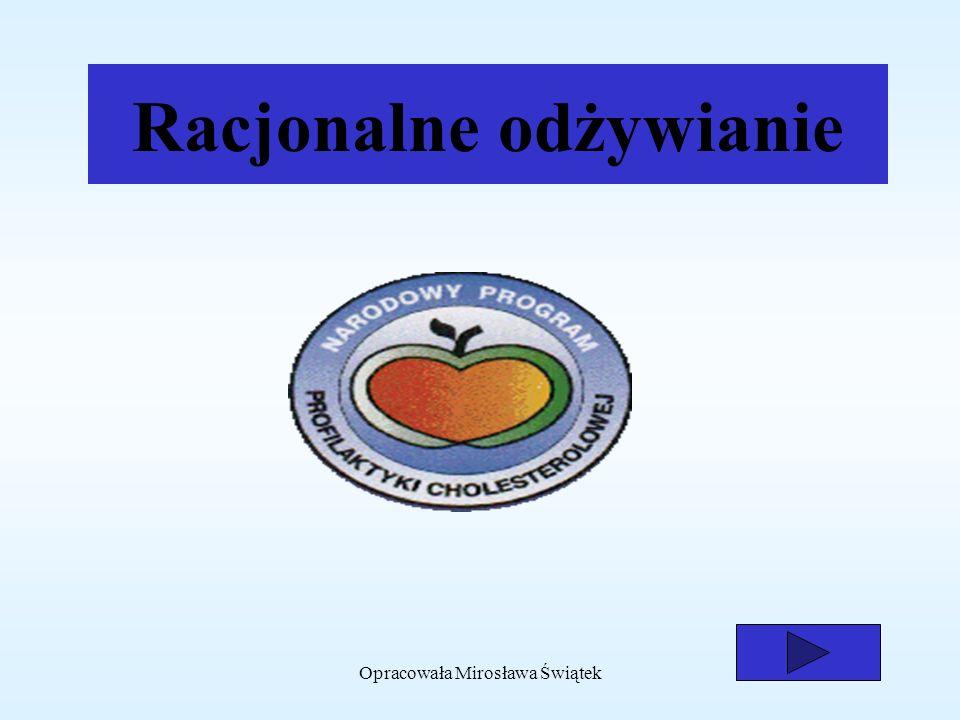 Opracowała Mirosława Świątek1 Racjonalne odżywianie