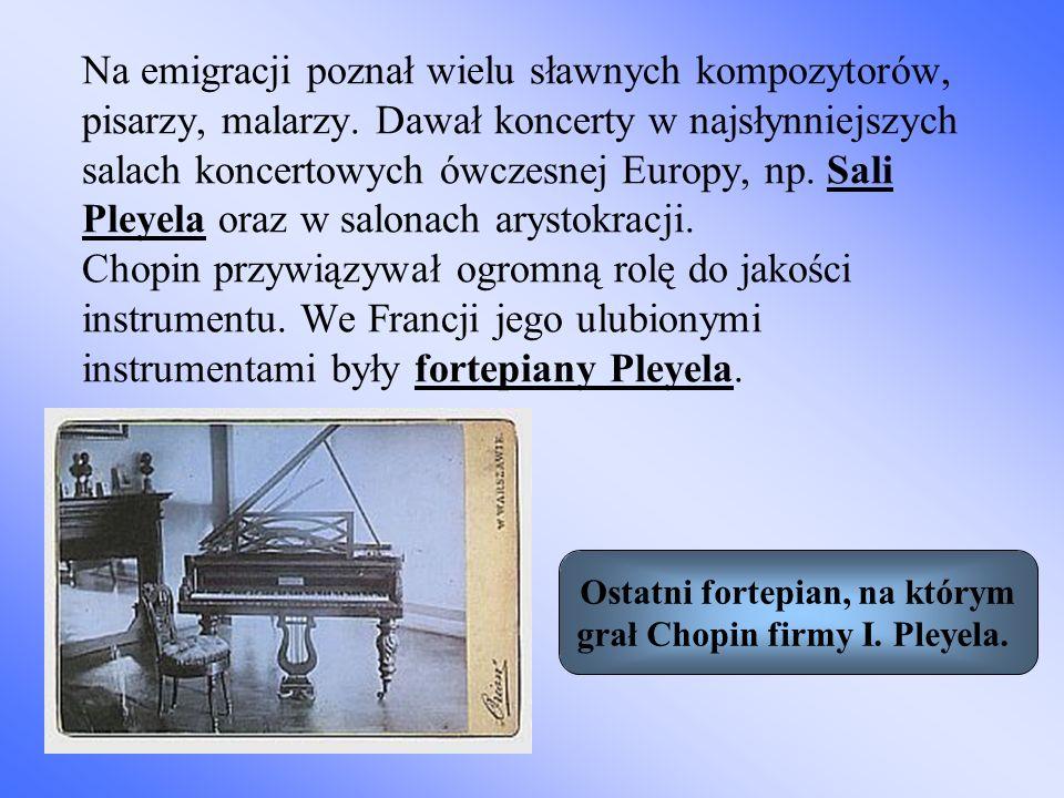 Na emigracji poznał wielu sławnych kompozytorów, pisarzy, malarzy. Dawał koncerty w najsłynniejszych salach koncertowych ówczesnej Europy, np. Sali Pl