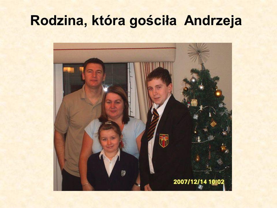 Rodzina, która gościła Andrzeja