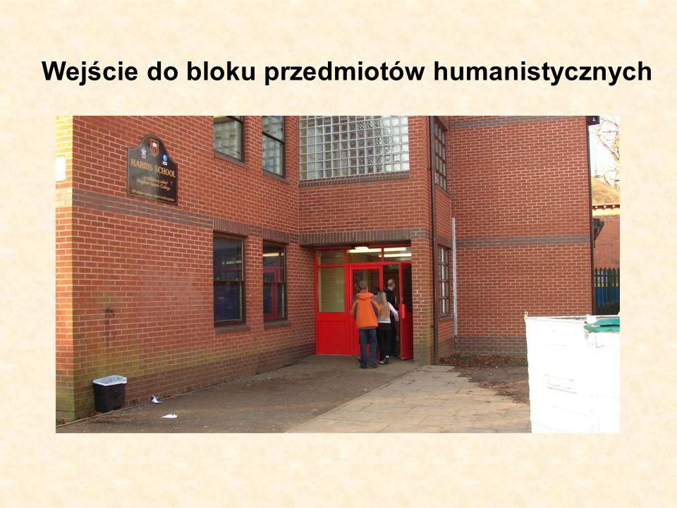 Wejście do bloku przedmiotów humanistycznych