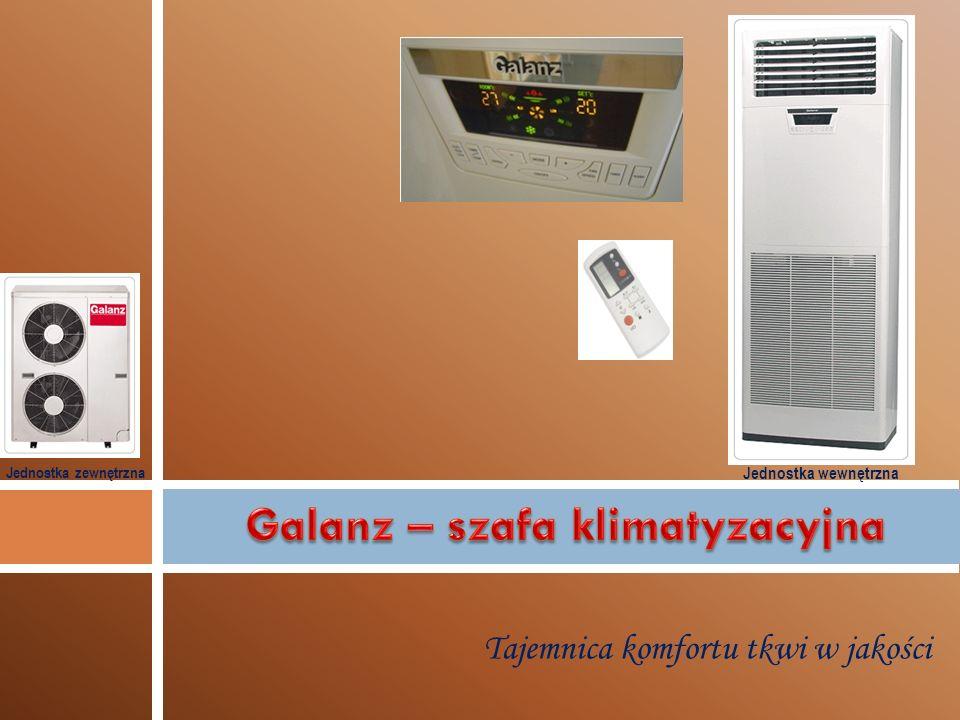 Szanowni Państwo KLIMATRONIK BIS od kilku lat z powodzeniem wprowadza na rynek urządzenia marki GALANZ.