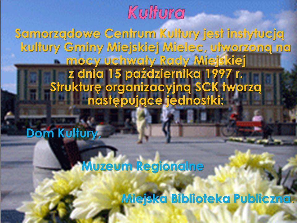 Samorządowe Centrum Kultury jest instytucją kultury Gminy Miejskiej Mielec, utworzoną na mocy uchwały Rady Miejskiej z dnia 15 października 1997 r. St