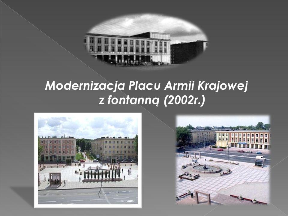 Modernizacja Placu Armii Krajowej z fontanną (2002r.)