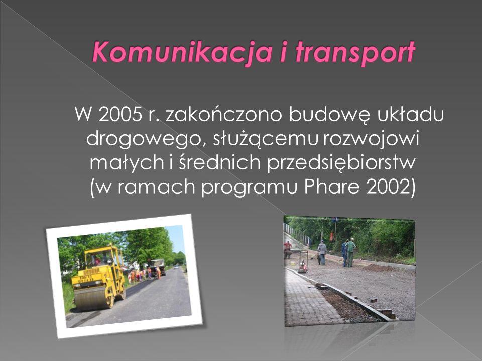 W 2005 r. zakończono budowę układu drogowego, służącemu rozwojowi małych i średnich przedsiębiorstw (w ramach programu Phare 2002)