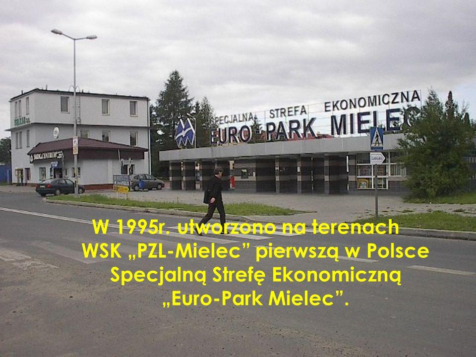 W 1995r. utworzono na terenach WSK PZL-Mielec pierwszą w Polsce Specjalną Strefę Ekonomiczną Euro-Park Mielec.