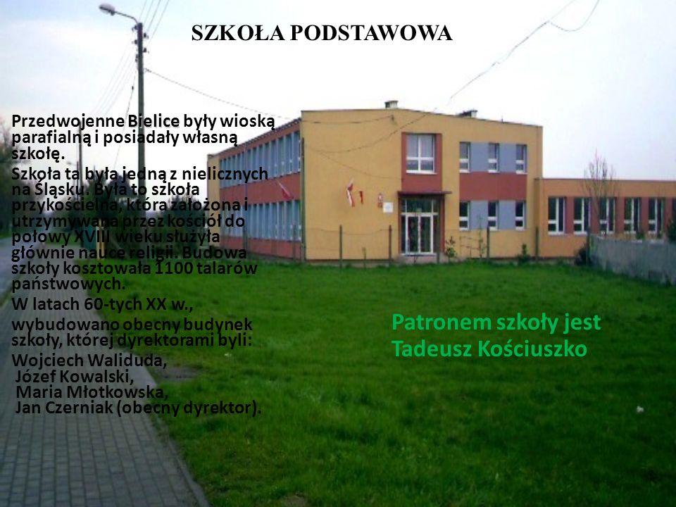 SZKOŁA PODSTAWOWA Bielice Przedwojenne Bielice były wioską parafialną i posiadały własną szkołę. Szkoła ta była jedną z nielicznych na Śląsku. Była to