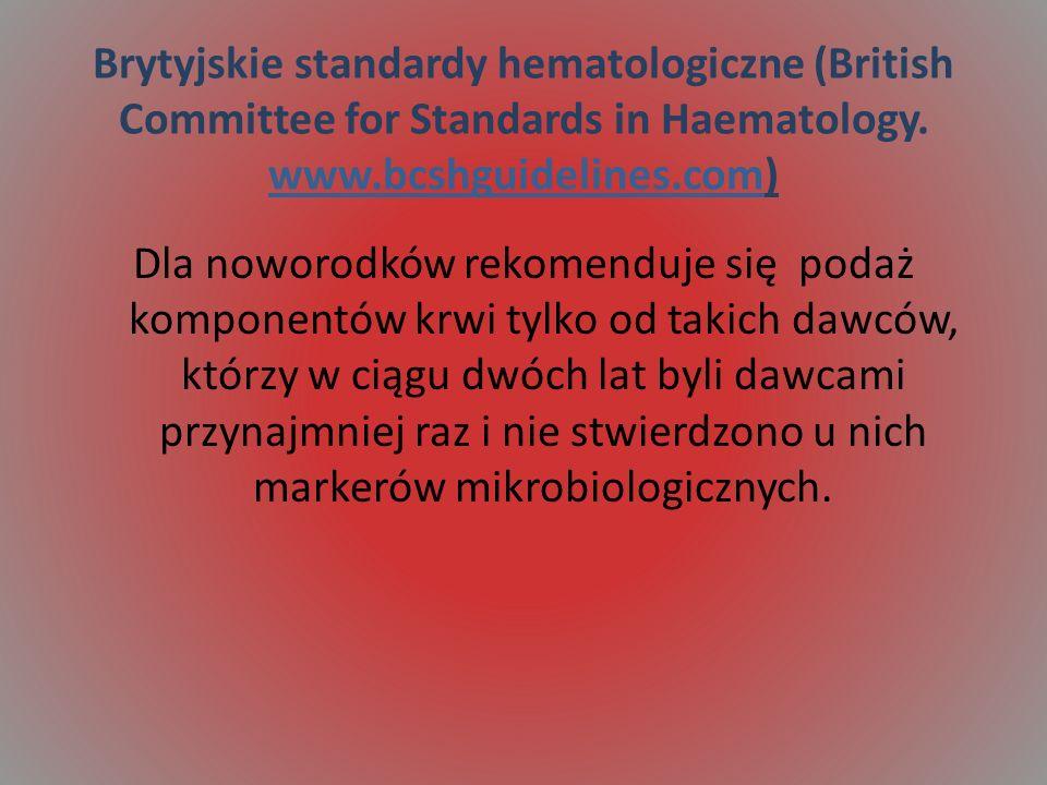 Brytyjskie standardy hematologiczne (British Committee for Standards in Haematology.