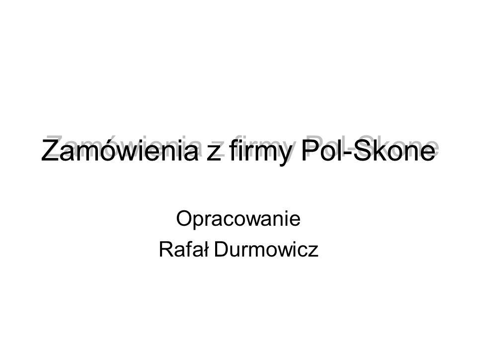 Zamówienia z firmy Pol-Skone Opracowanie Rafał Durmowicz
