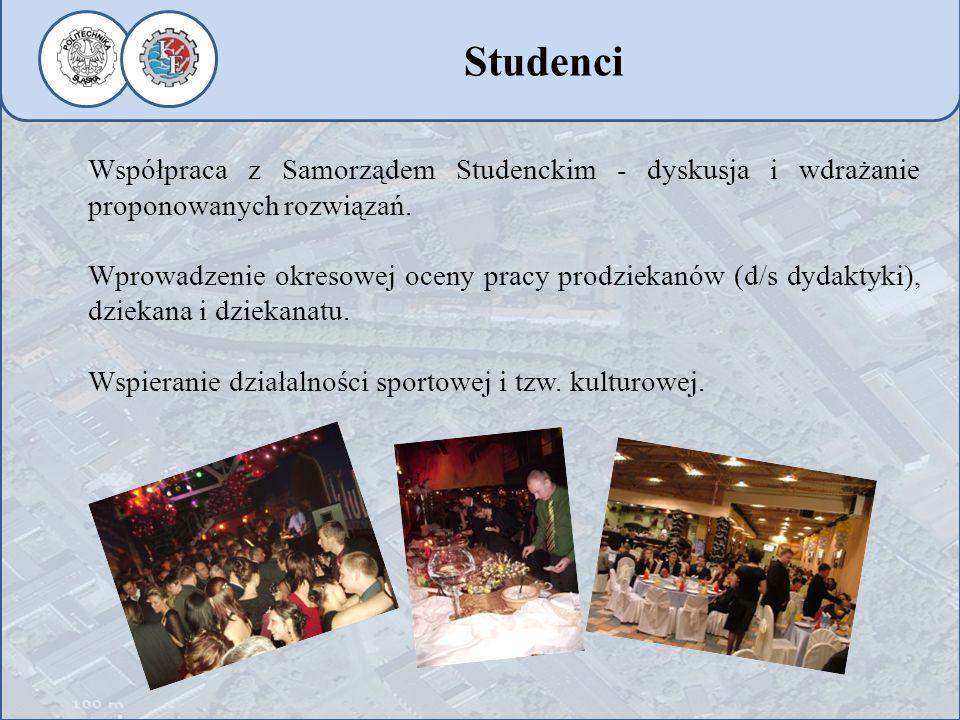 Współpraca z Samorządem Studenckim - dyskusja i wdrażanie proponowanych rozwiązań. Wprowadzenie okresowej oceny pracy prodziekanów (d/s dydaktyki), dz