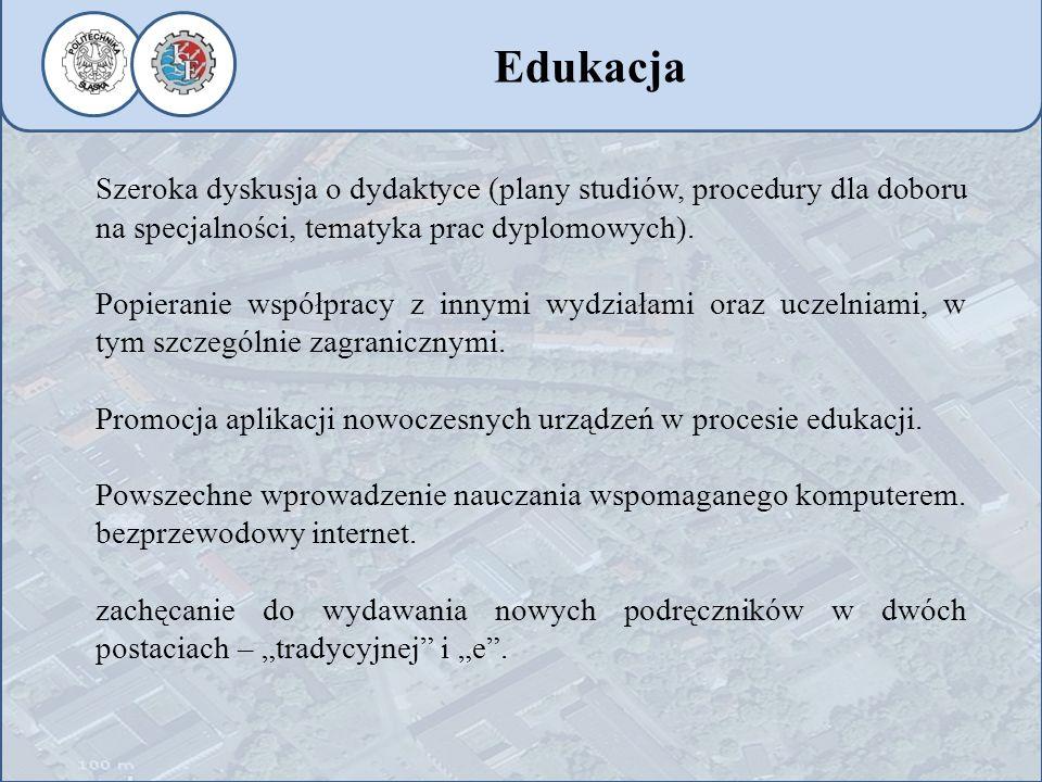 Szeroka dyskusja o dydaktyce (plany studiów, procedury dla doboru na specjalności, tematyka prac dyplomowych). Popieranie współpracy z innymi wydziała